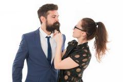Романс и flirt офиса Игра с его сердцем Искусство flirt Сексуальная секретарша flirt Знать его грязные секреты Она знает стоковое изображение