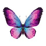 Minimalistic butterfly in low poly style. Geometric butterfly. minimalistic butterfly in lowpoly style. butterfly wings are made in a geometric style stock illustration