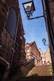 Романтичная дорожка в Эдинбурге стоковая фотография rf