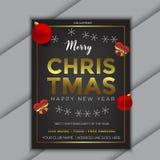 Роскошный плакат предпосылки продажи рождества - вектор бесплатная иллюстрация