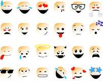 """Ñ Ð  бР¾ рка Ñ  Ð ¼ аР¹"""" Ð ¾ Ð ² Ustawiający wektorowi emoticons w kreskowym stylu, emoji odizolowywający na białym tle  ilustracji"""