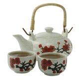 Ñ  hinese茶杯和水壶 库存图片