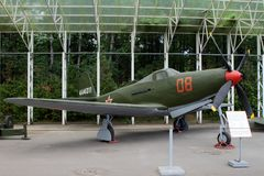Р-63 Kingcobra fighter USA on grounds of weaponry exhibition Stock Photos