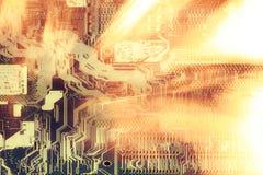 Ñ- omputer Chiphintergrund Stockfotografie