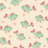 Х-ray tetra fish pattern Royalty Free Stock Photography