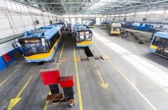 Тrolley depot Stock Photos
