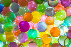Hydrogel beads. Macro close up Stock Image