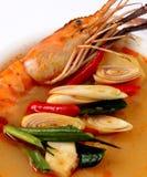 Ñame Kung de Tom. Sopa picante del camarón Fotografía de archivo