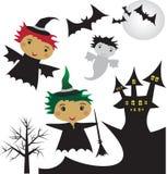 Ñlip-arte de Halloween Foto de Stock Royalty Free