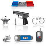 Ñollection obietta la polizia Fotografia Stock