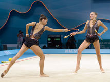 3ò Campeonatos mundiais da ginástica rítmica Imagens de Stock Royalty Free