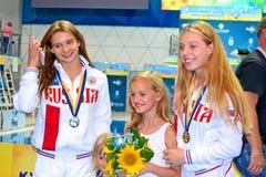 2ò competiam 2018 da qualificação de FINA World Junior Diving Championships, Kiev, Ucrânia, Imagens de Stock Royalty Free