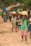 ò Novembro 2008. Refugiados do Dr. Congo Foto de Stock