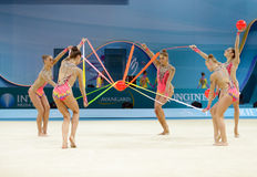 3òs campeonatos mundiais da ginástica rítmica Imagem de Stock