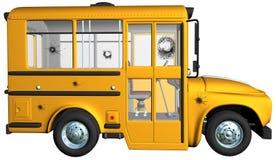 Żółci autobusów szkolnych dziura po kuli Zdjęcie Royalty Free