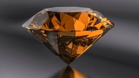 Żółci diamenty na czarnym tle Fotografia Stock