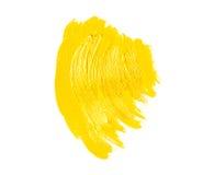 Żółci farby muśnięcia uderzenia Zdjęcie Royalty Free