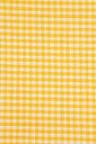 Żółci i biali tablecloth tła Zdjęcie Stock