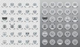 Żółci ikon emoticons Obrazy Royalty Free