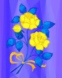 Żółci kwiaty, depresja Poli- Fotografia Royalty Free