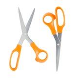 Żółci nożyce odizolowywający na białym tle Zdjęcie Stock