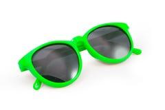 Żółci okulary przeciwsłoneczni na białym tle Fotografia Royalty Free