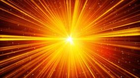 Żółci olśniewający lekcy promienie i gwiazdy tło ilustracja wektor