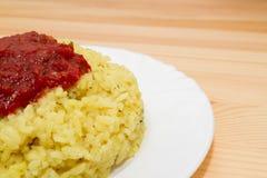 Żółci ryż obrazy stock