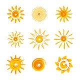 Żółci słońca royalty ilustracja