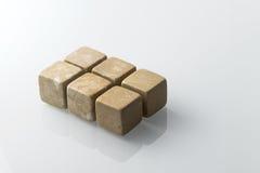 Żółci whisky kamienie ustawiający 6 Obraz Stock