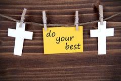 Żółta Żółta etykietka Z słowami Robi Twój Best Zdjęcie Royalty Free
