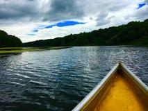 Żółta łódź Fotografia Royalty Free
