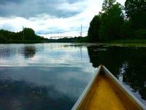 Żółta łódź Obraz Royalty Free