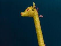 Żółta Łozinowa żyrafy dekoraci zabawka Fotografia Stock