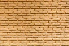 Żółta ściana z cegieł tekstura Zdjęcie Royalty Free