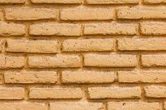 Żółta ściana z cegieł tekstura Fotografia Royalty Free