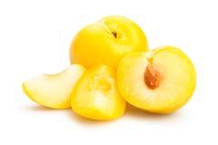 Żółta śliwka Zdjęcie Royalty Free