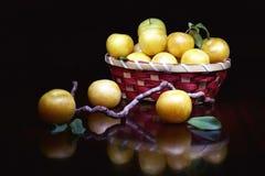 Żółta śliwka Obrazy Royalty Free