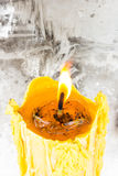 Żółta świeczka Zdjęcia Stock