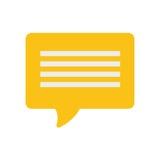 Żółta bąbel mowy dialog rozmowa ilustracja wektor