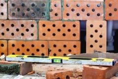 Żółta cegły odświeżania praca Obrazy Stock