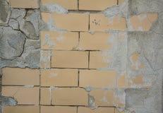 Żółta ceramiczna cegły tekstura Obraz Stock