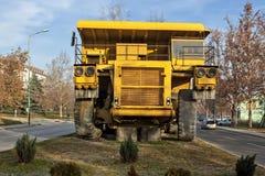 Żółta dumper ciężarówka 01 Zdjęcia Stock