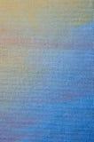 Żółta i błękitna abstrakcjonistyczna tekstura malował na sztuki kanwy backgrou Fotografia Royalty Free