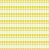 Żółta i Biała polki kropki projekta płytki wzoru Abstrakcjonistyczna powtórka Obraz Stock