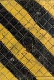 Żółta i czarna przemysłowa tekstura Obrazy Royalty Free