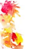 Żółta i czerwona akwarela plami tło Fotografia Royalty Free