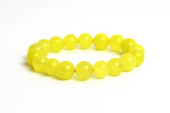 Żółta jaspisowa bransoletka Fotografia Royalty Free
