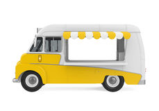 Żółta jedzenie ciężarówka Odizolowywająca ilustracja wektor