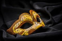 Żółta karnawał maska fotografia royalty free